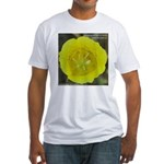Yellow Mariposa Lily Fitted T-Shirt