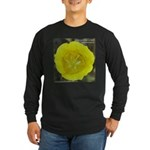 Yellow Mariposa Lily Long Sleeve Dark T-Shirt