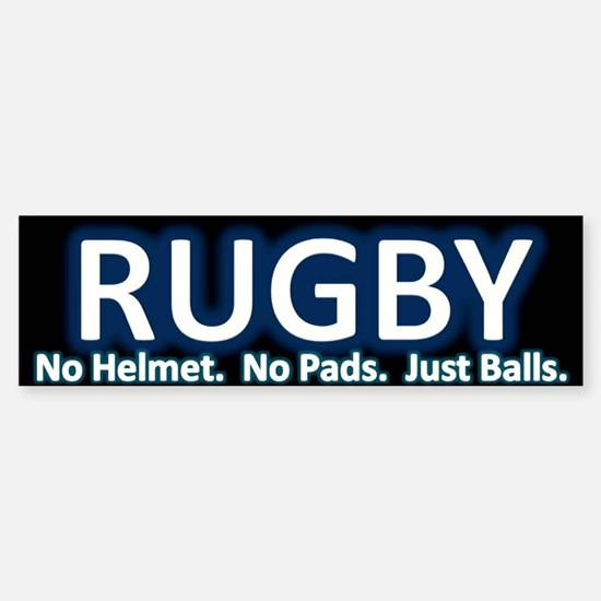 Rugby Bumper Car Car Sticker