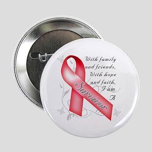 """Heart Disease Survivor 2.25"""" Button"""