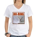 Boring Office Guy Women's V-Neck T-Shirt