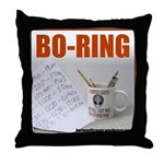 Boring Office Guy Throw Pillow