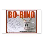 Boring Office Guy Rectangle Sticker 10 pk)