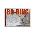Boring Office Guy Rectangle Magnet