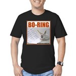 Boring Office Guy Men's Fitted T-Shirt (dark)