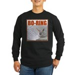 Boring Office Guy Long Sleeve Dark T-Shirt