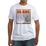 Boring Office Guy Fitted T-Shirt