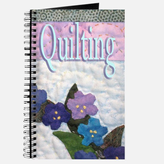 Blue Flower Quilting Journal