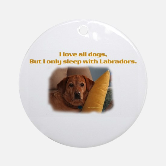 Fox Red Labrador Ornament (Round)