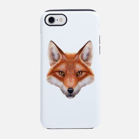 Red Fox Face iPhone 7 Tough Case