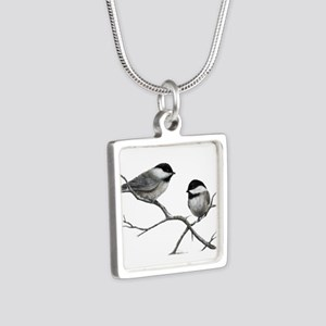 chickadee song bird Necklaces