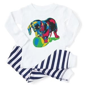 52d4ce03b Wiener Dog Toddler Pajamas - CafePress