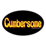 Cumbersome Oval Sticker