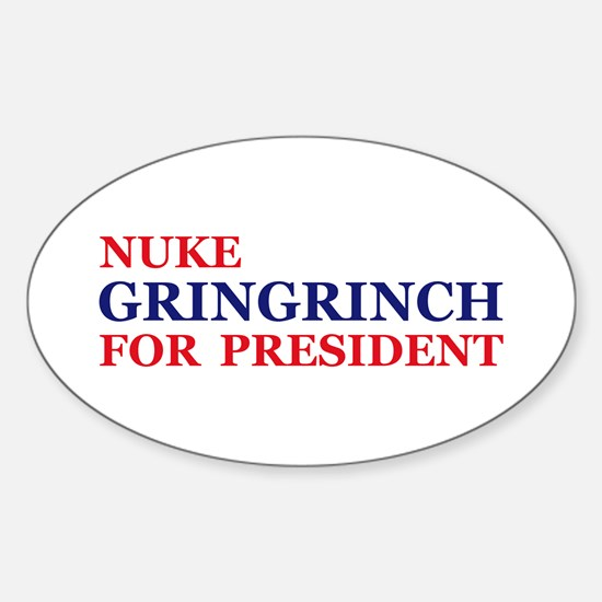 Gringrinch for President Oval Decal