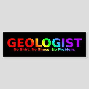 Geologist No Shoes Sticker (Bumper)