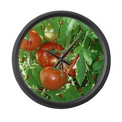 Tomatoes Large Wall Clock
