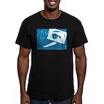 Chain Eye Men's Fitted T-Shirt (dark)