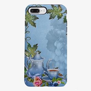 Blue Tea Party iPhone 7 Plus Tough Case