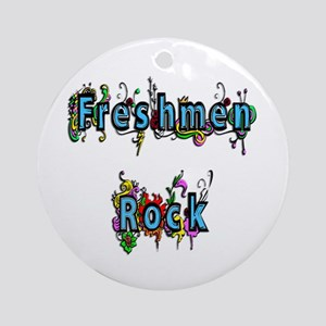 Freshmen Rock Ornament (Round)