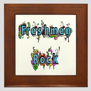 Freshmen Rock Framed Tile