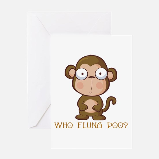 Who Flung Poo? Greeting Card
