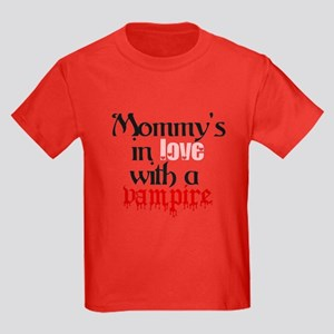 Mommys in love with a vampire Kids Dark T-Shirt