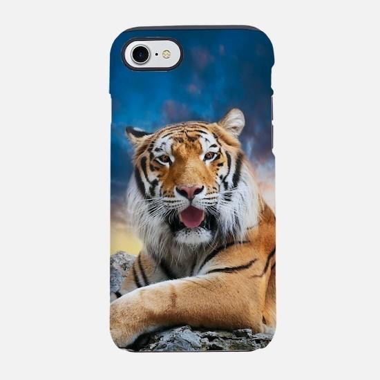 Tiger Sunset iPhone 7 Tough Case
