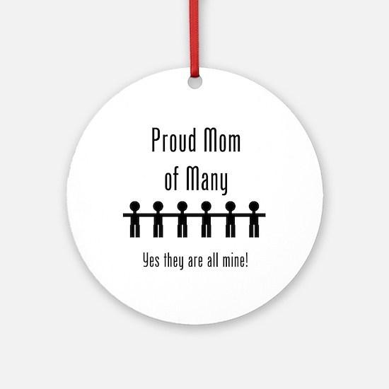 Mom of Many - 6 Kids Ornament (Round)