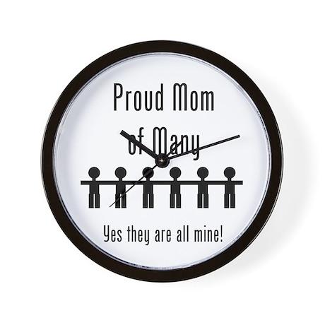 Mom of Many - 6 Kids Wall Clock