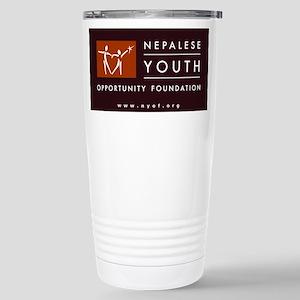 NYOF Logo Stainless Steel Travel Mug