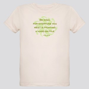 Plato Quote: Be Kind -- Organic Kids T-Shirt