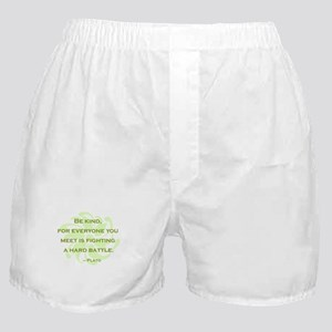 Plato Quote: Be Kind -- Boxer Shorts