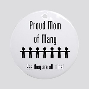 Mom of Many - 7 Kids Ornament (Round)