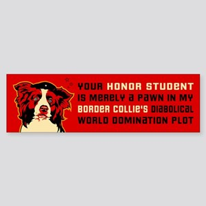 Border Collie Honor Student Bumper Sticker