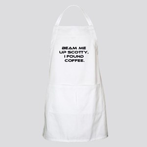 Beam Me Up Scotty. I Found Coffee. Apron