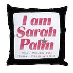 Real Women for Palin 2012 Throw Pillow