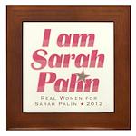Real Women for Palin 2012 Framed Tile