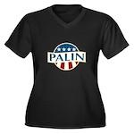 Palin 2012 Women's Plus Size V-Neck Dark T-Shirt