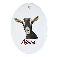 Alpine Portrait Annabelle Oval Ornament