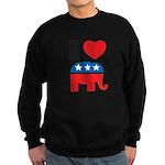 I Heart Republicans Sweatshirt (dark)