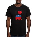 I Heart Republicans Men's Fitted T-Shirt (dark)