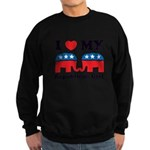 I Heart My Republican Girl Sweatshirt (dark)
