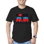 I Heart My Republican Guy Men's Fitted T-Shirt (da