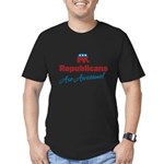 Republicans are Awesome! Men's Fitted T-Shirt (dar