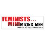 Minimizing Men (Bumper Sticker 10 pk)
