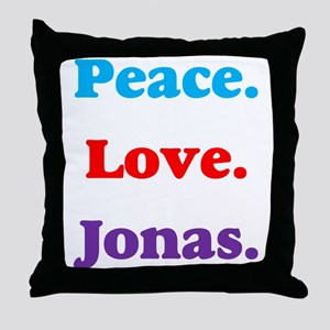 Peace. Love. Jonas. Throw Pillow