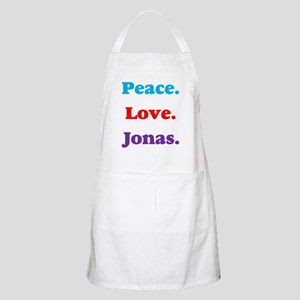 Peace. Love. Jonas. BBQ Apron