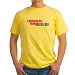 Minimizing Men 2-sided Yellow T-Shirt