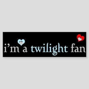 """""""I'm a Twilight fan"""" Bumper Sticker"""