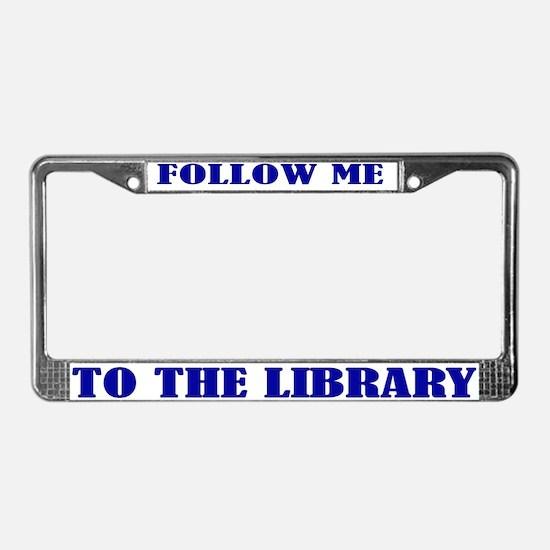 Library License Plate Frame